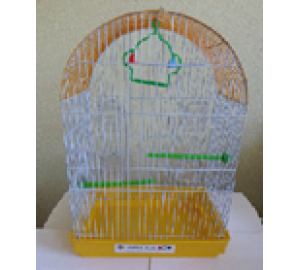 Клетка для птиц Круглая крыша 4 кормушки 55*23*53
