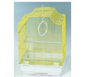 Клетка для птиц Фигурная крыша выносные кормушки 35*28*46