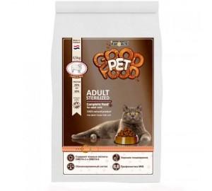Сбалансированный сухой корм для взрослых стерилизованных кошек и котов Good Pet food Cats ADULT Sterilized