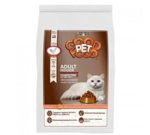 Сбалансированный сухой корм для взрослых кошек, живущих в помещении Good Pet food Cats ADULT Indoor