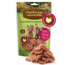 Деревенские лакомства. Лакомство для собак мини-пород: медальоны из индейки с рисом