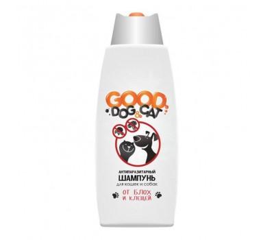 GOOD DOG & CAT. Антипаразитарный шампунь для кошек и собак. От блох и клещей