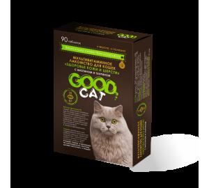 GOOD CAT. «ЗДОРОВЬЕ КОЖИ И ШЕРСТИ» мультивитаминное лакомство для кошек с биотином и таурином