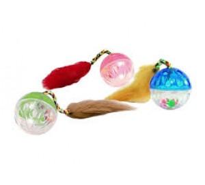 Мяч пластиковый с бубенчиком и мышкой