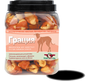 GreenQzin. ГРАЦИЯ - УТИНАЯ (Сушеное гусиное мясо на яблоке) 750гр