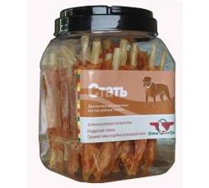 GreenQzin. СТАТЬ (Сушеное мясо индейки на воловьей коже) 750 гр