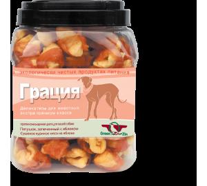 GreenQzin. ГРАЦИЯ - КУРИНАЯ (Сушеное куриное мясо на яблоке) 750гр