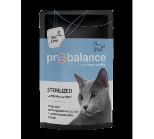 Probalance. Sterilized. Для кастрированных и стерилизованных кошек.