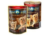 Влажные корма для взрослых собак мелких пород