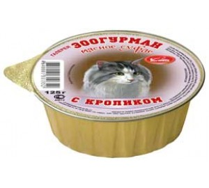 ЗООГУРМАН. Мясное суфле с кроликом, 75 грамм.
