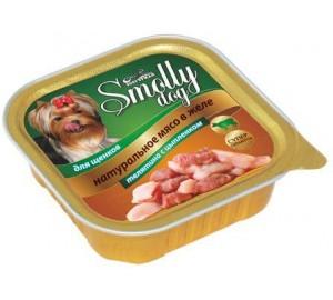 Смолли Дог. Телятина с цыплёнком для щенков